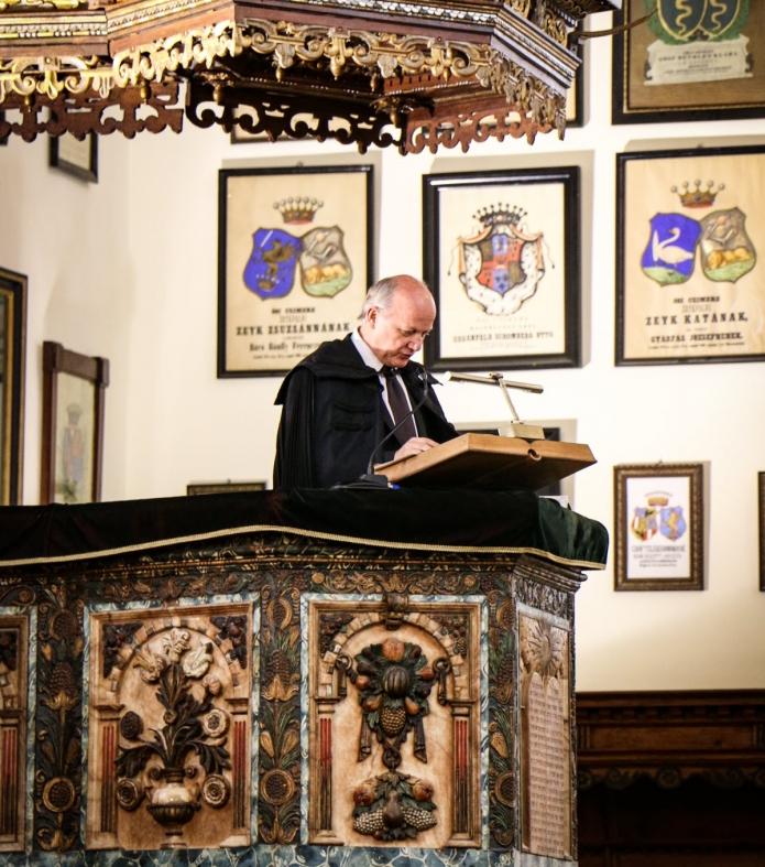 Visky S. Béla liturgus, az első évfolyam vezető tanára