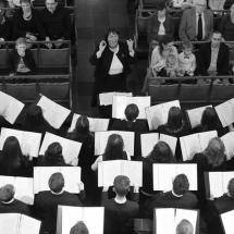 A kórus istentiszteleti szolgálata Brüsszelben (Kiss Gábor fotója)
