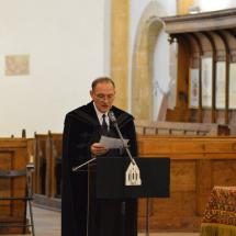 Kállay Dezső rektor köszönti a vendégeket