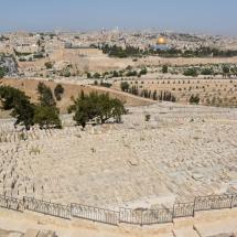 Jeruzsálem az Olajfák hegyéről