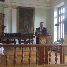 Fazakas Sándor (DRHE) Székely József lelkipásztor könyvét mutatja be