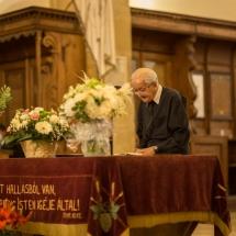 A véndiákok nevében köszöntő beszédet mondott Airizer Zoltán